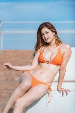 河瀬杏美「8頭身RQ」がビキニ姿をプールサイドでお披露目!【写真34枚】の画像