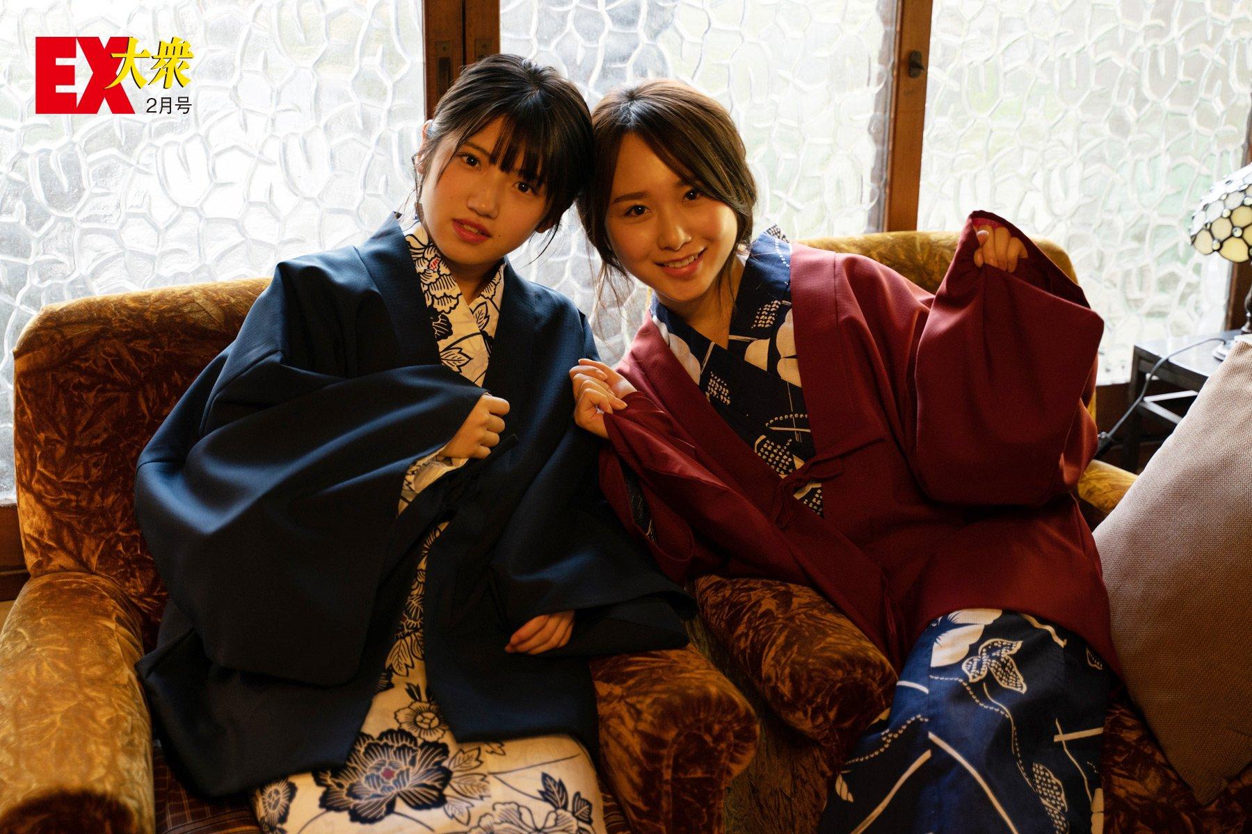AKB48高橋朱里&村山彩希の本誌未掲載カット9枚を大公開!【EX大衆2月号】の画像006