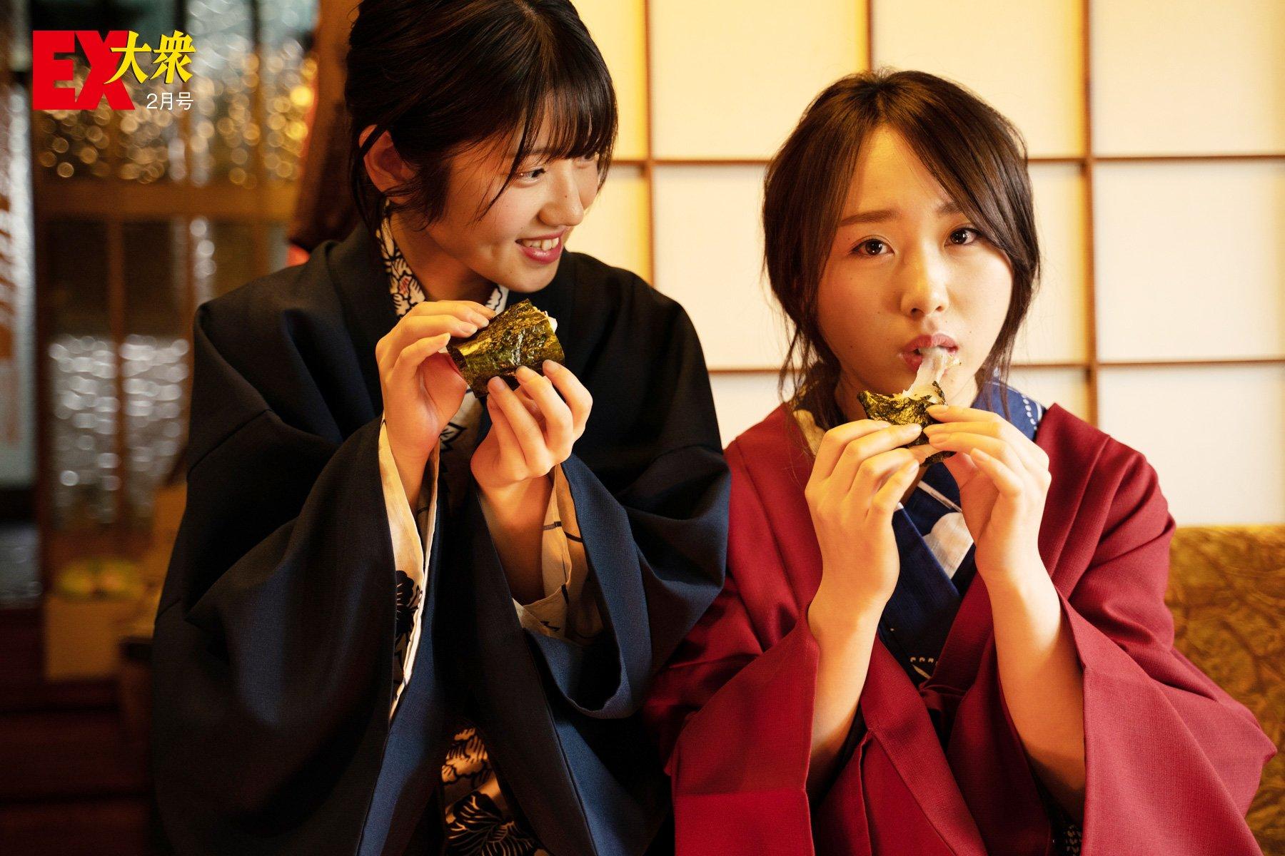AKB48高橋朱里&村山彩希の本誌未掲載カット9枚を大公開!【EX大衆2月号】の画像007