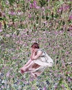 """峯岸みなみ""""鏡張りの床で見えちゃいそう?""""ランに囲まれた空間にファン「花の妖精」【画像2枚】の画像"""