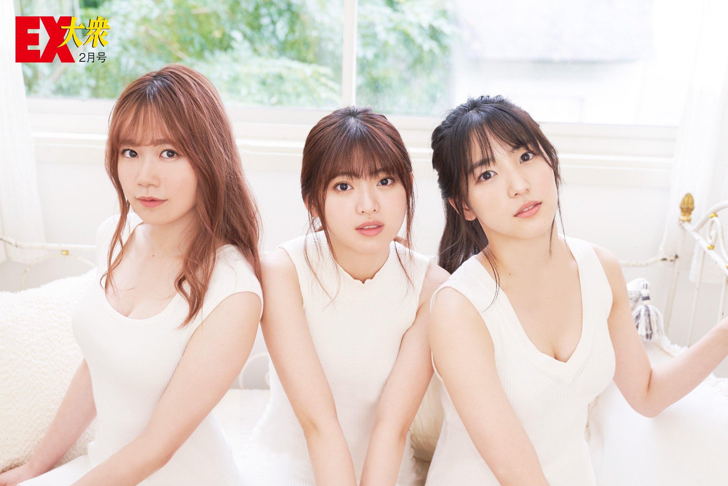 AKB48馬嘉伶、服部有菜、下尾みうの本誌未掲載カット7枚を大公開!【EX大衆2月号】の画像004