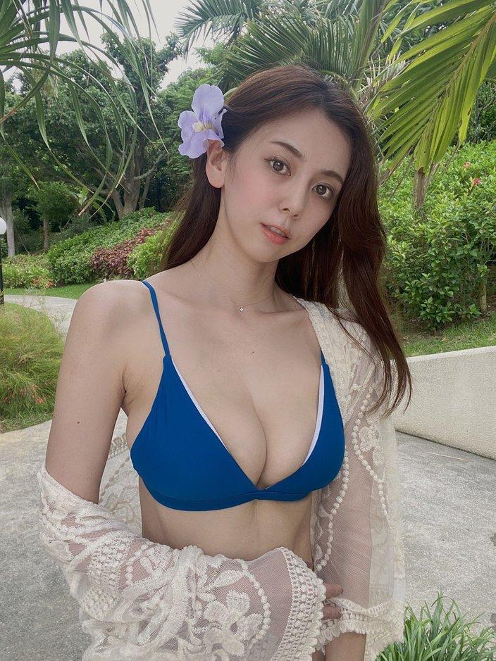 """G乳""絃花みき「トロピカルなゴージャス美女」超絶プロポーションを披露の画像"