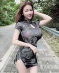 台湾人モデル・ジェナ「あなたの好みはどれ?」旧正月を祝うセクシーなチャイナドレス姿【画像5枚】の画像003