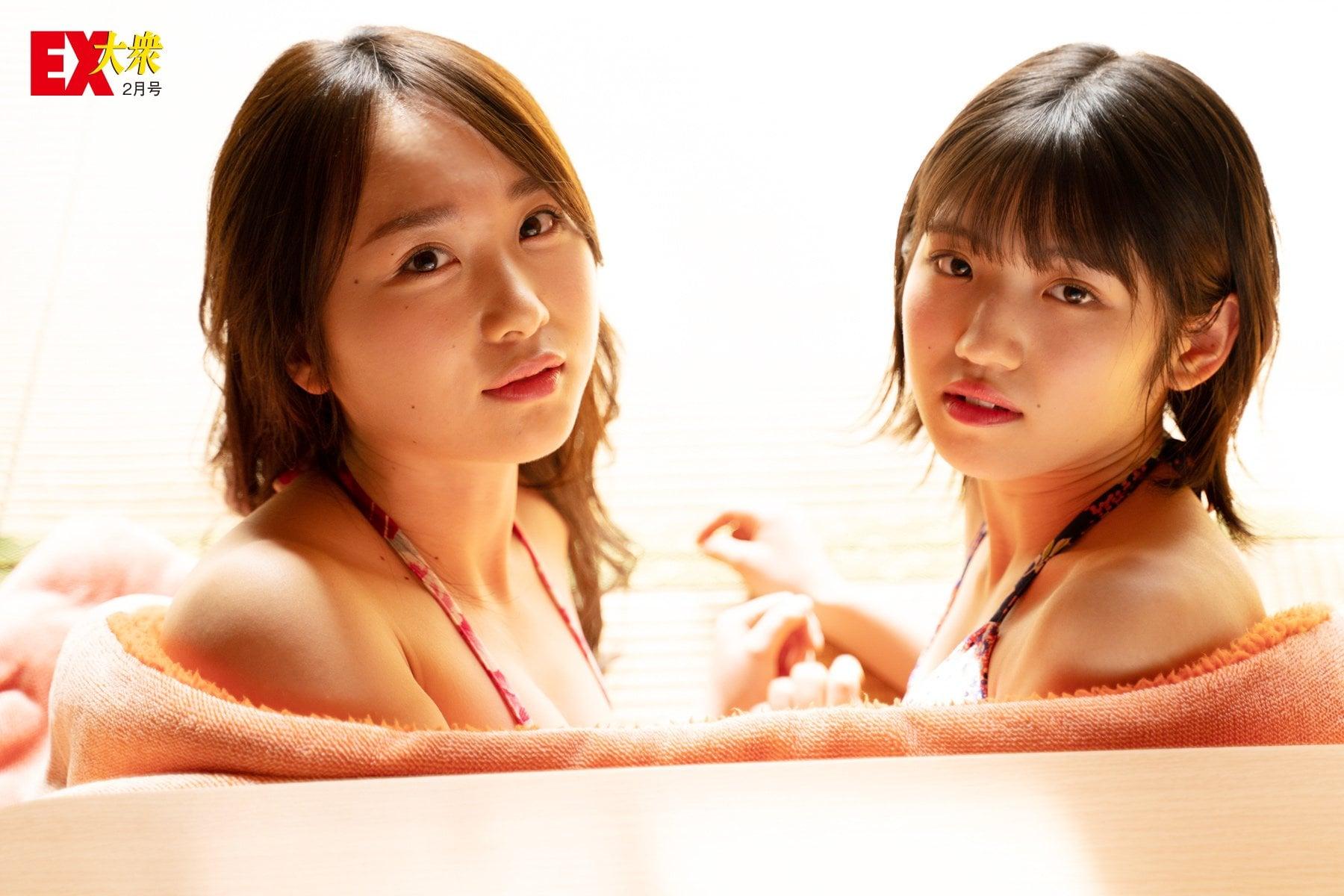 AKB48高橋朱里&村山彩希の本誌未掲載カット9枚を大公開!【EX大衆2月号】の画像005