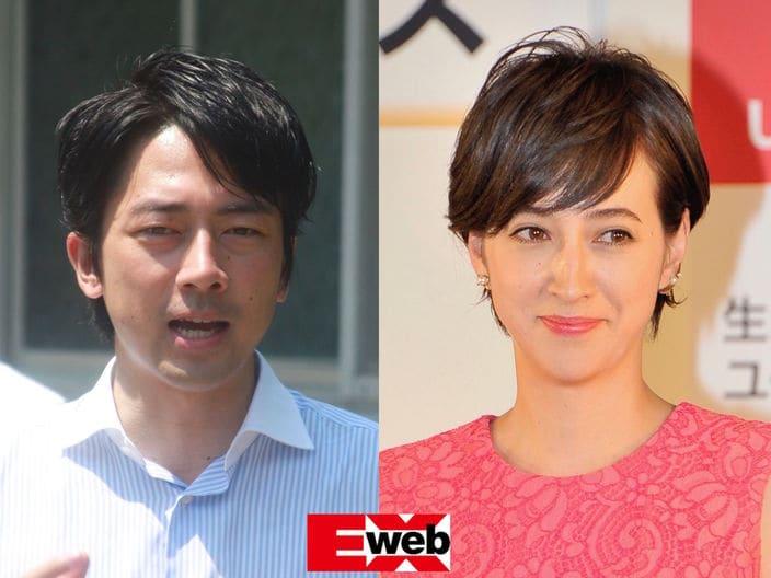 小泉進次郎(左)・滝川クリステル(右)