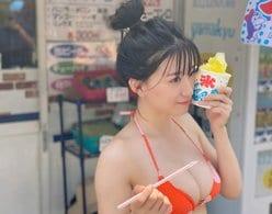 NMB48上西怜「かき氷になりたい…」アイドル最高峰美ボディのオフショット披露【画像3枚】の画像