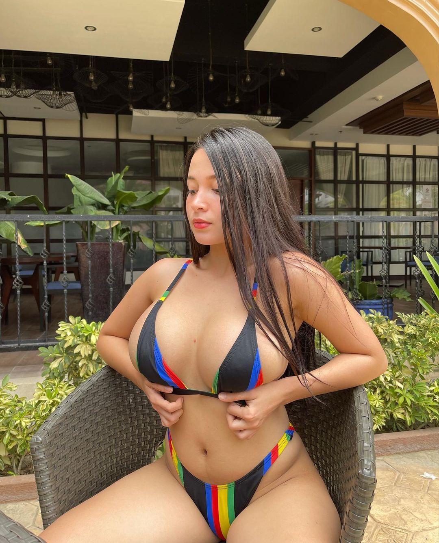 パンドラ・カーキ「フィリピン美乳の最高峰!」ビキニに収まり切らない迫力ボディ【画像3枚】の画像001