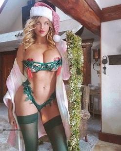 ダナ・ハム「グラマラスすぎるサンタコス!」クリスマスに向けてファンにプレゼントを準備中の画像