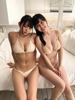 未梨一花&桜井木穂「100cm乳ペアが初コラボ」令和のボンキュッボン娘の画像