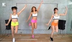 サイバージャパン「バスト揺れまくり動画」激しいダンスで汗ビッショリ!の画像