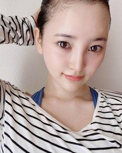 元HKT48兒玉遥「美しすぎるツルツルおでこ」を披露!の画像