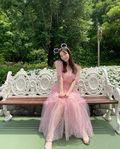 元AKB48島崎遥香「プリンセスですか?」「リアルお姫様」ピンクのシースルードレスにファン歓喜【画像3枚】の画像001