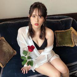 """元SKE48竹内舞「黒い""""オトナ""""なランジェリー姿」その格好だと寒そうだ…の画像"""