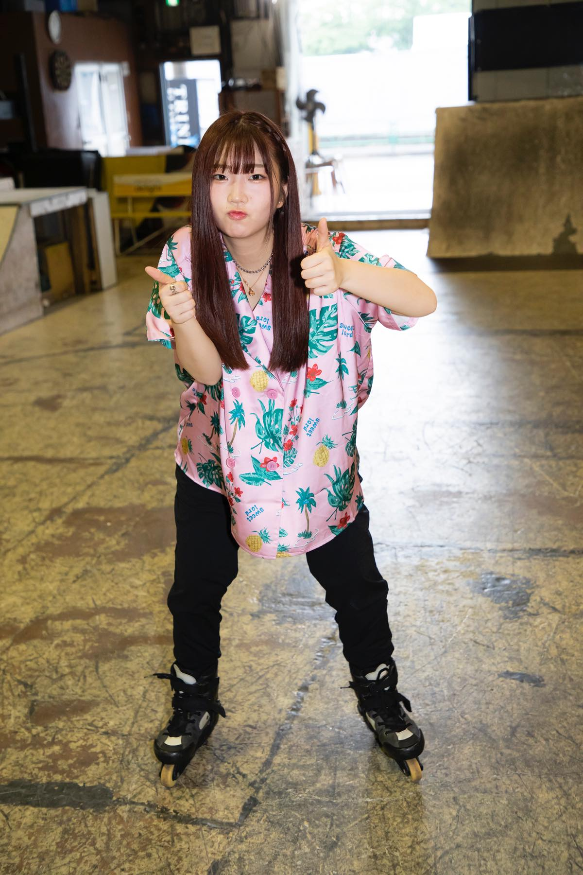 米田みいな「初めてのインラインスケートでなぜかにゃんこスターのモノマネ!?」【写真37枚】【連載】ラストアイドルのすっぴん!vol.21の画像028