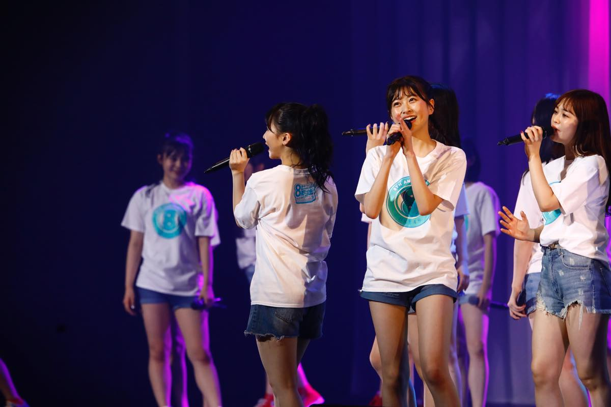 HKT48が8周年前夜祭コンサート「8周年だよ!HKT48の令和に昭和な歌合戦~みんなで笑おう八っ八っ八っ八っ八っ八っ八っ八っ(笑)~」を開催!の画像016