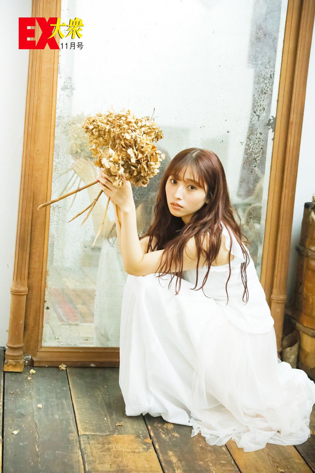 HKT48栗原紗英の本誌未掲載カット4枚を大公開!【EX大衆11月号】の画像003