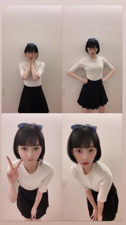 堀未央奈「アニメコスプレに挑戦!」第一弾は青いリボンが特徴的な…?の画像