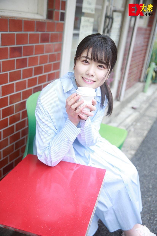 日向坂46丹生明里の本誌未掲載カット4枚を大公開!【EX大衆4月号】の画像001