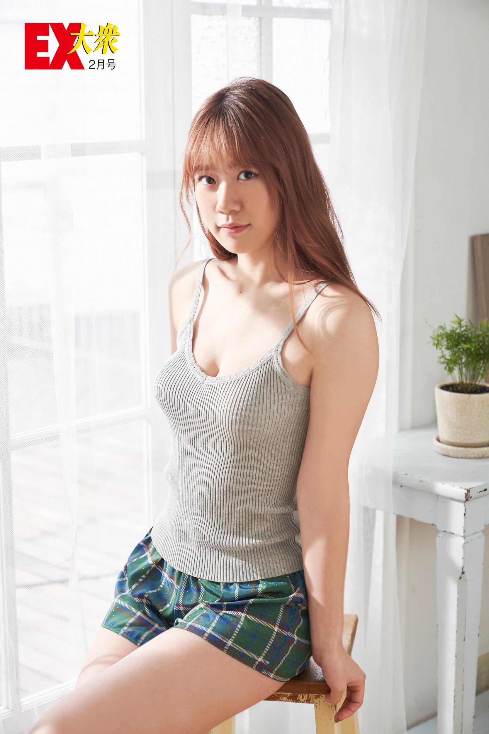 AKB48馬嘉伶、服部有菜、下尾みうの本誌未掲載カット7枚を大公開!【EX大衆2月号】の画像003