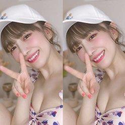 元SKE48平松可奈子「優しく強く美しく」美谷間と共にファンにメッセージの画像