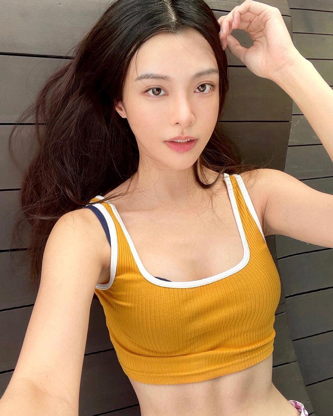 キャスリン・リー「マレーシアの美ボディセレブ!」ロングヘアとボブ…どっちが好み?【画像2枚】の画像002