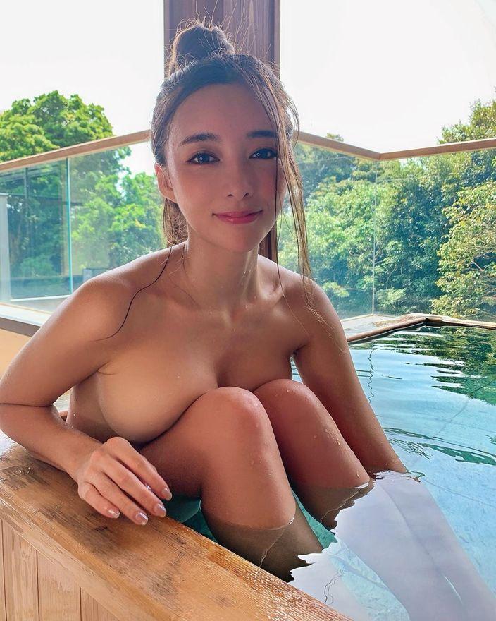 濱野りれ「立ち上がったら事故!」伊豆の温泉宿でセレブな入浴を楽しむの画像