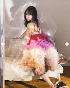 小嶋陽菜「美しすぎる背中」あらわなドレス姿を披露に「あーエモい」の声の画像