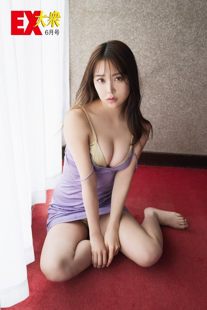 NMB48白間美瑠の本誌未掲載カット5枚を大公開!【EX大衆6月号】の画像