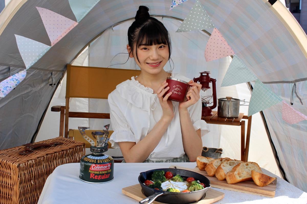 NGT48新センターを務める藤崎未夢がキャンプ・アウトドア情報メディアで連載スタート!の画像002