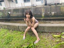 NGT48奈良未遥「久しぶりのソログラビア!」水着撮影のオフショットを公開の画像
