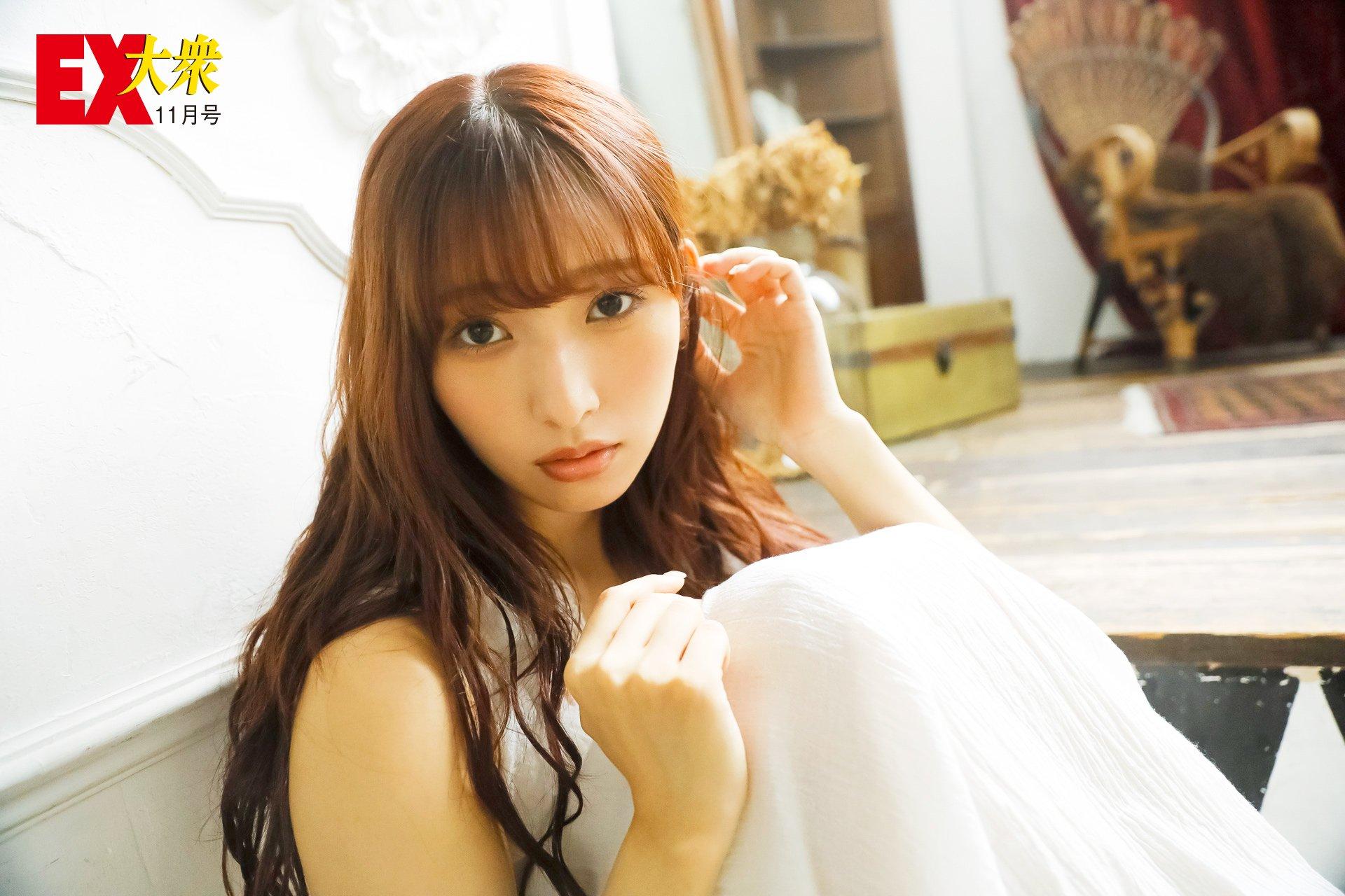 HKT48栗原紗英の本誌未掲載カット4枚を大公開!【EX大衆11月号】の画像001