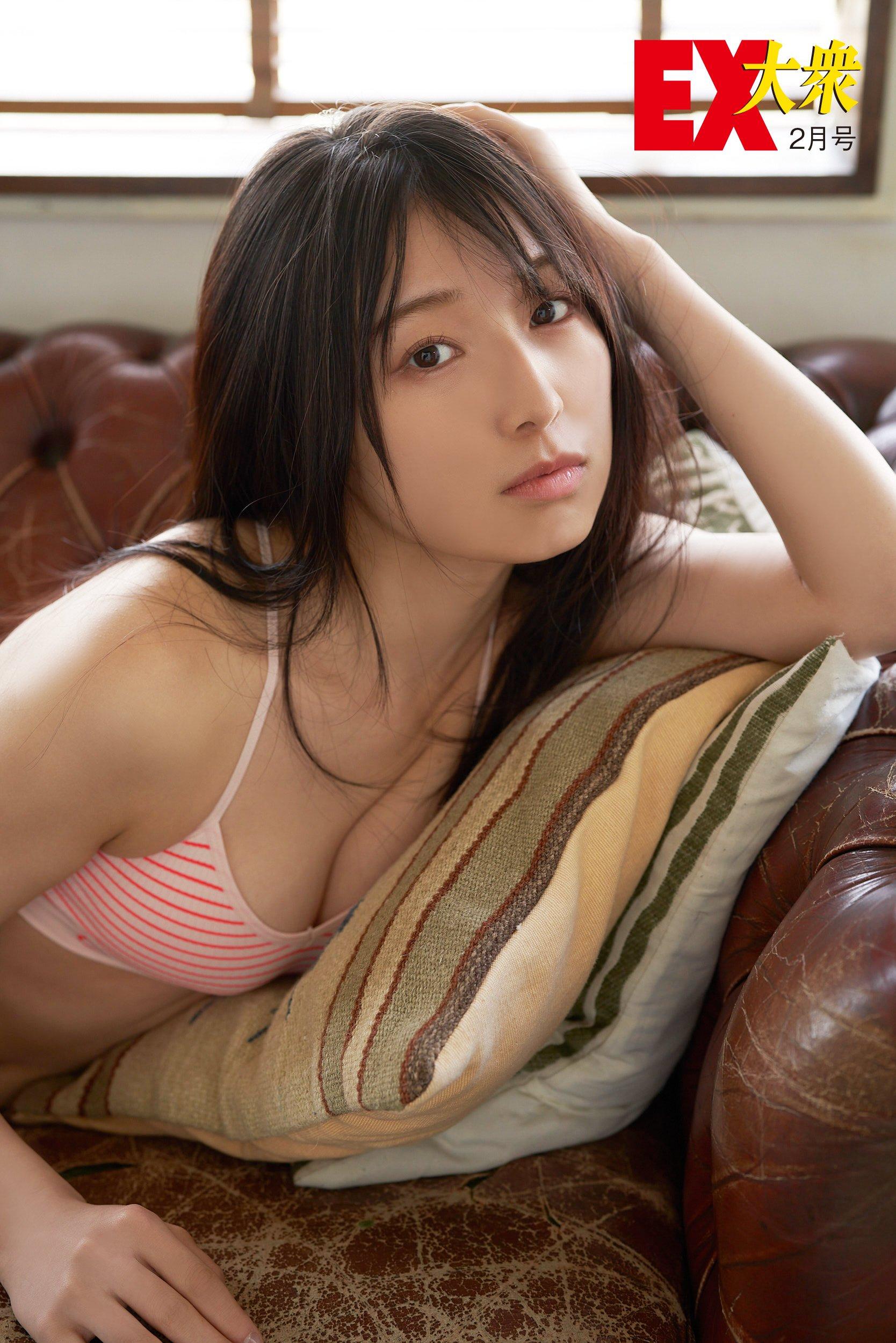 NMB48安部若菜の本誌未掲載カット4枚を大公開!【EX大衆2月号】の画像002
