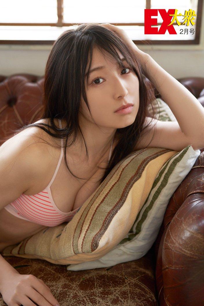 NMB48安部若菜の本誌未掲載カット4枚を大公開!【EX大衆2月号】の画像