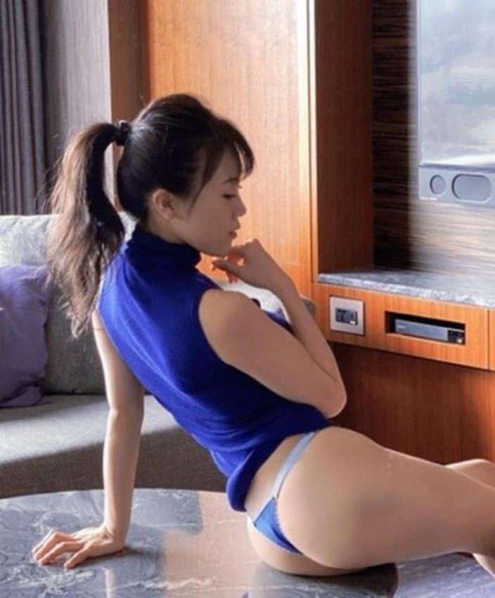 """""""サイバー軍団""""HARUKA「横からも絶品のバズーカ尻!」ポニーテールもキュートの画像"""