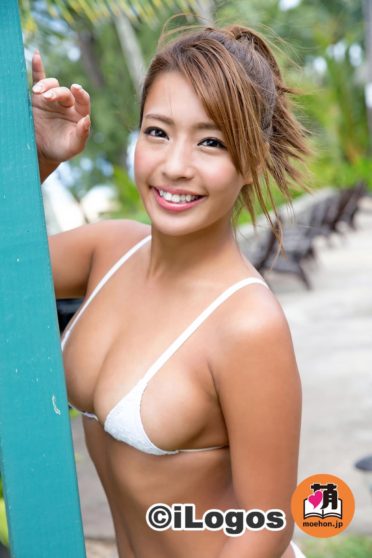 橋本梨菜「日本一太陽が似合う」小麦肌セクシー美女001