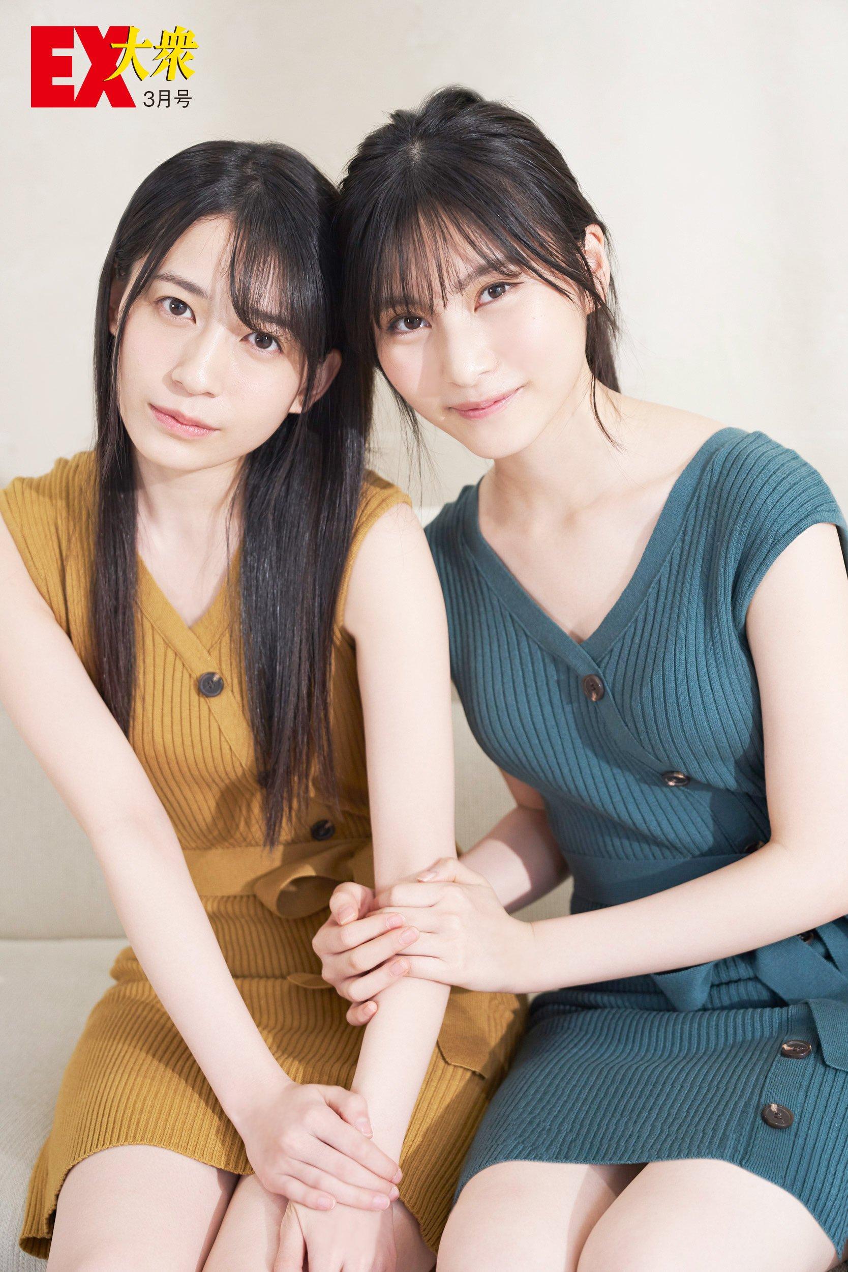 AKB48佐々木優佳里と福岡聖菜の本誌未掲載カット2