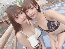 元NMB48山岸奈津美「つるつる&ぷにぷに」林あやのと再びツーショットに大反響【画像4枚】の画像