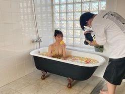 NMB48本郷柚巴「ビキニ姿でセクシーに…」グラビア撮影の入浴オフショットを公開【画像2枚】の画像