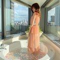 NMB48吉田朱里「シースルードレスで優雅にバスタイム」雑誌撮影のオフショットを披露【画像2枚】の画像002