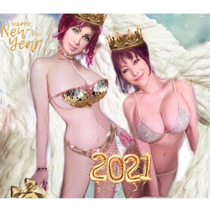 叶姉妹「ファビュラスな恭賀新年」新年もマシュマロおっパイな幕開けに反響【画像3枚】の画像