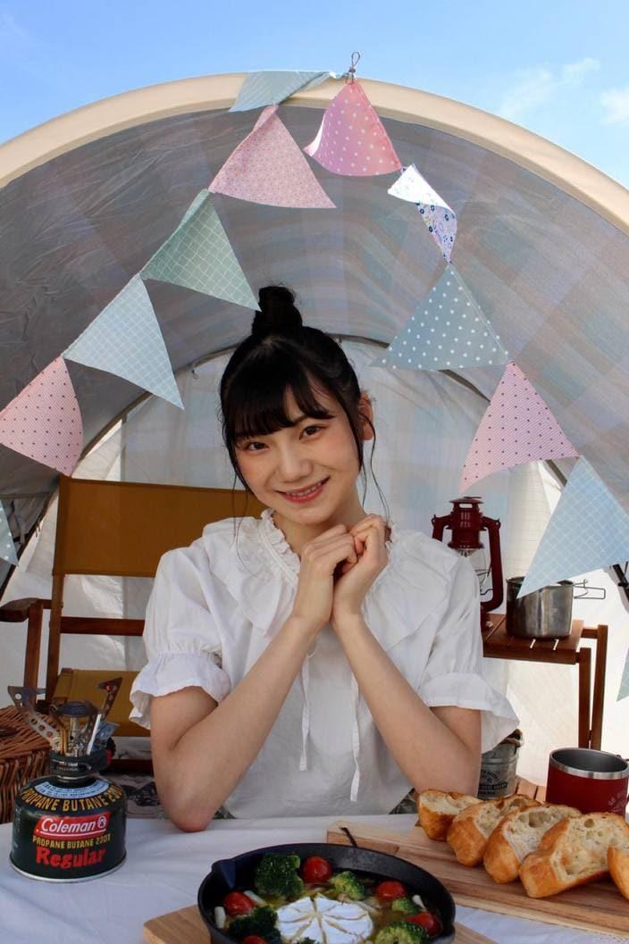 NGT48新センターを務める藤崎未夢がキャンプ・アウトドア情報メディアで連載スタート!の画像